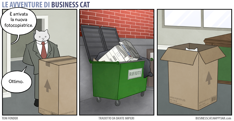 Business Cat Photocopier