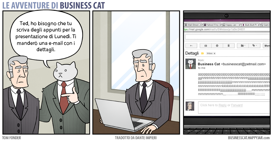 Business Cat email