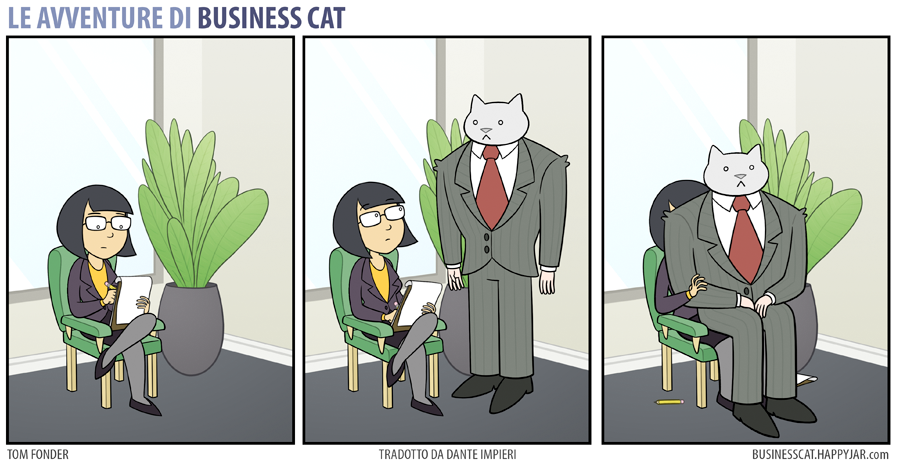 Business Cat Lap